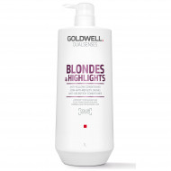 GOLDWELL Dualsenses Blonde & Highlights Anti-Yellow Kondicionieris 1000 ml (PUDELES DEFORMĀCIJA)