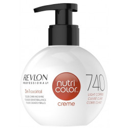 REVLON PROFESSIONAL Nutri Color Creme 740 Light Copper Krēm-Krāsa 270 ml