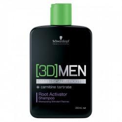 SCHWARZKOPF PROFESSIONAL [3D]Men Root Activator Šampūns 250 ml