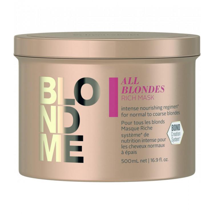 SCHWARZKOPF PROFESSIONAL BlondMe All Blondes Rich Maska 500 ml