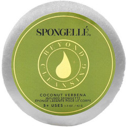 SPONGELLE Body Wash Infused Sponge-Coconut Verbena Dušas Sūklis 43 g