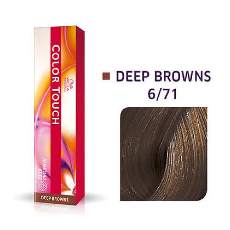 WELLA PROFESSIONALS Color Touch 6/71 Dark Blonde/Brown Ash Demi-Permanent Matu Krāsa 57 g