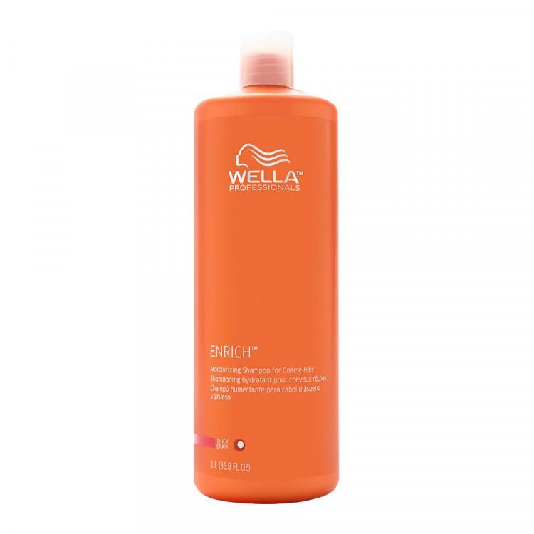 WELLA PROFESSIONALS Enrich Moisturizing Šampūns Raupjiem Matiem 1000 ml